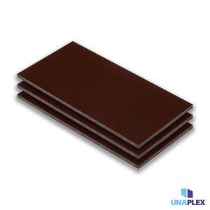 hpl plaat - hpl bruin - (ral 8014) - (1300x3050x6mm)