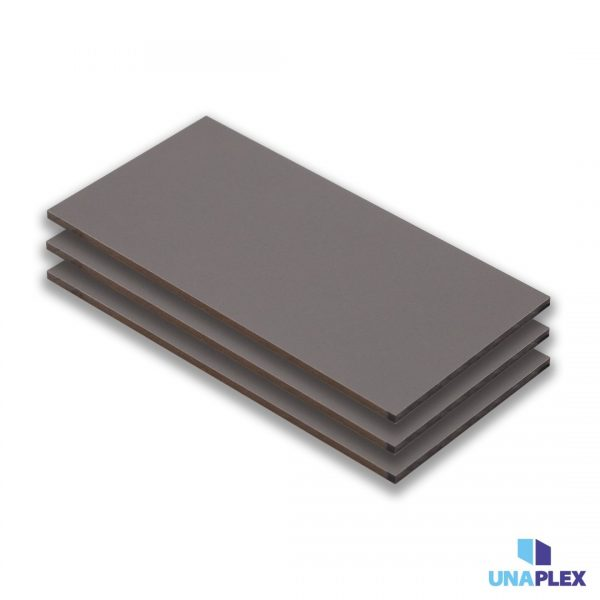 hpl plaat - hpl stofgrijs - (ral 7037) - (1300x3050x6mm)