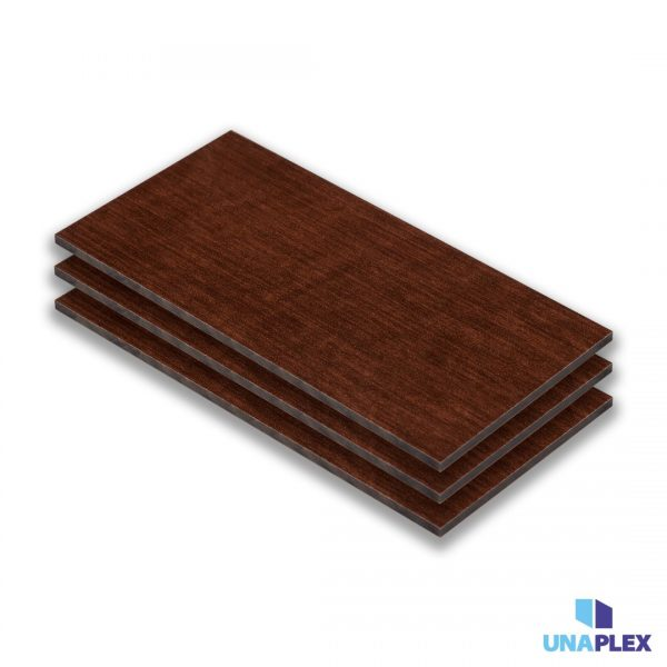 hpl plaat - hpl houtkleur-bruin - (hout bruin) - (1030x3050x6mm)